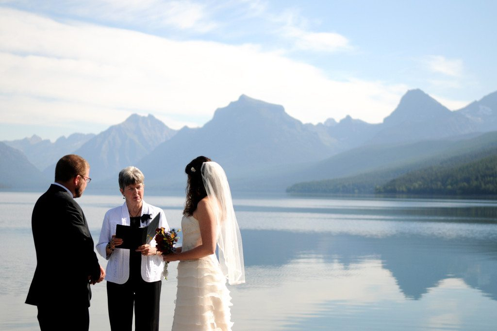 mountain elopement ceremony